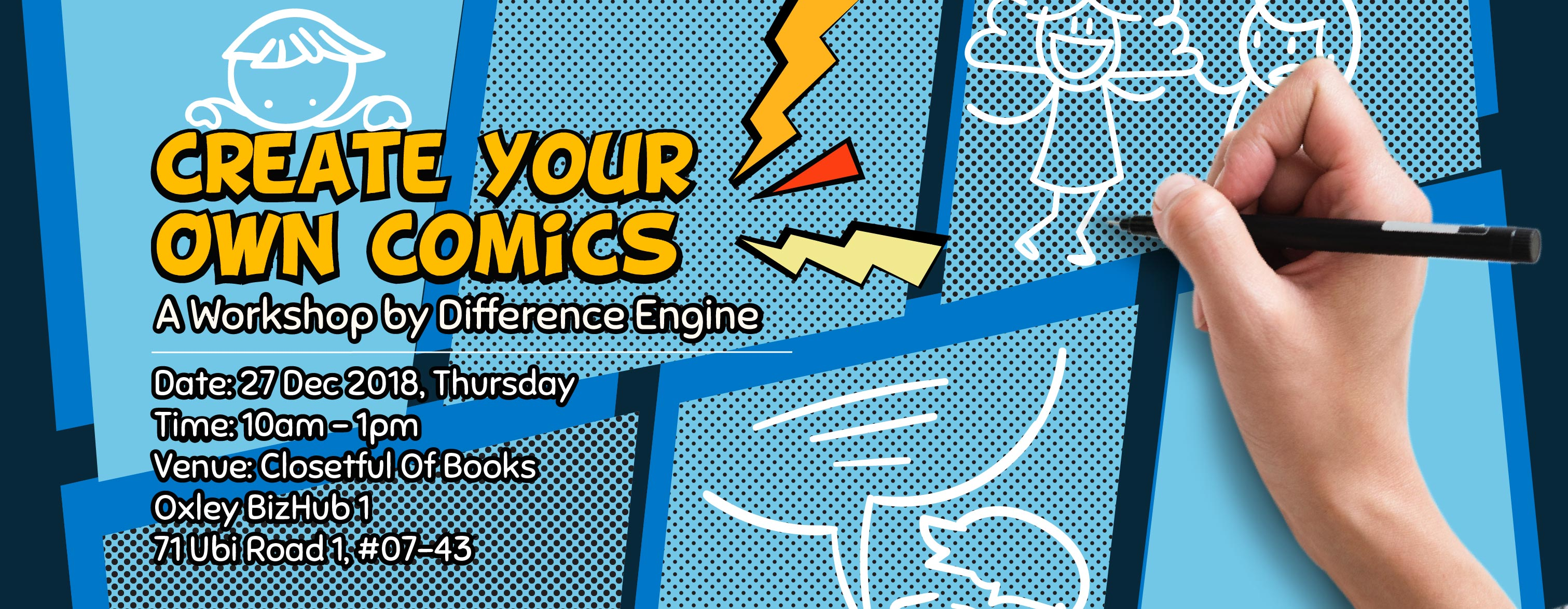 create your own comics workshop