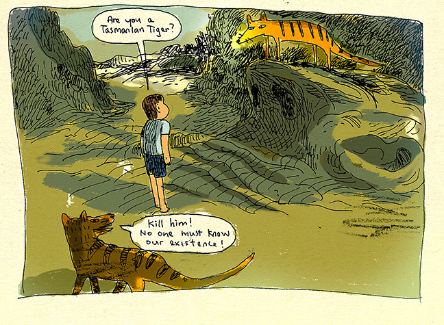 james-tan-comics-illustrator-tasmanian-tiger