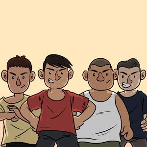 The Flat Boys (Yusuf, Linus, Ravi & Ming)