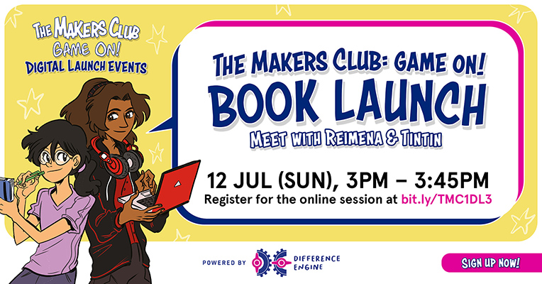 the makers club game on digital launch - book launch