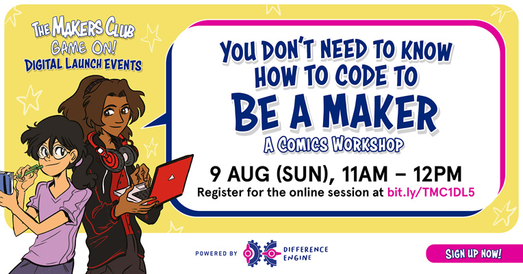 the makers club game on digital launch - you don't need to know how to code to be a maker