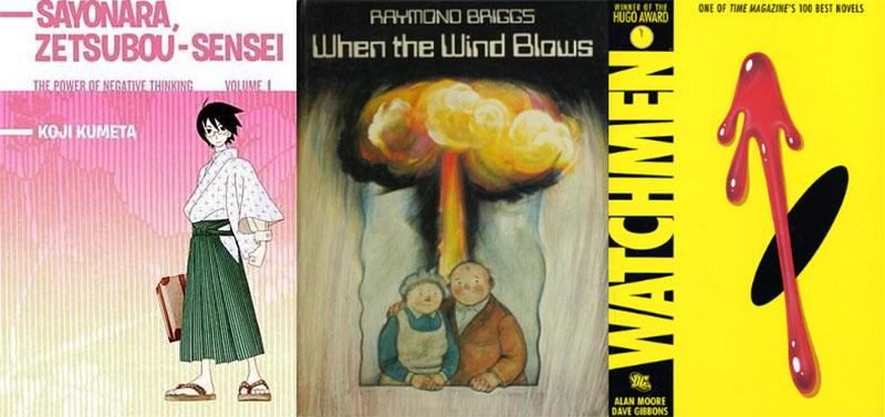 Sayonara, Zetsubou-Sensei, When the Wind Blows and Watchmen